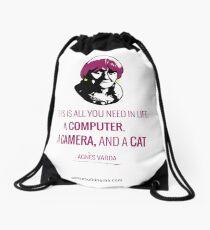 Agnès Varda, le bonheur Drawstring Bag