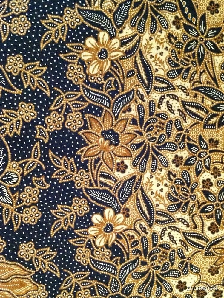 Black, light brown, pattern, flowers, leaves by znamenski