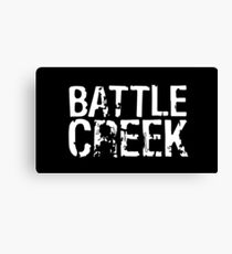 Battle Creek - White Canvas Print