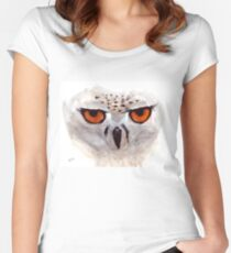 White Owl Women's Fitted Scoop T-Shirt