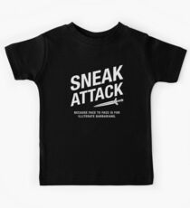 Rogue Sneak Attack Analphabeten Barbarians Gaming Kinder T-Shirt