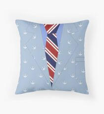 Mayor of Shark City Anchor Jacket Throw Pillow