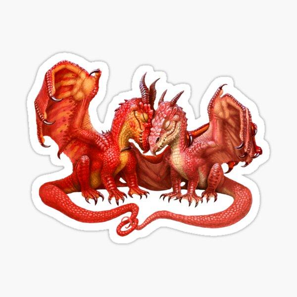 Valentines Dragons- Together  Sticker