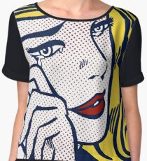 Crying Girl, Homage to Roy Lichtenstein Chiffon Top