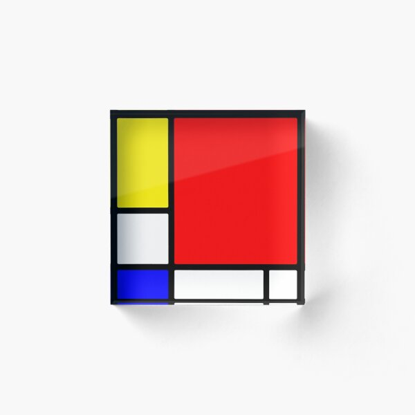 Homage to Mondriaan Acrylic Block
