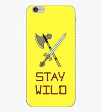 Bright vector illustration of the Scandinavian life. Fighting tools of Vikings. Stay wild. iPhone Case