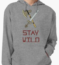 Bright vector illustration of the Scandinavian life. Fighting tools of Vikings. Stay wild. Lightweight Hoodie