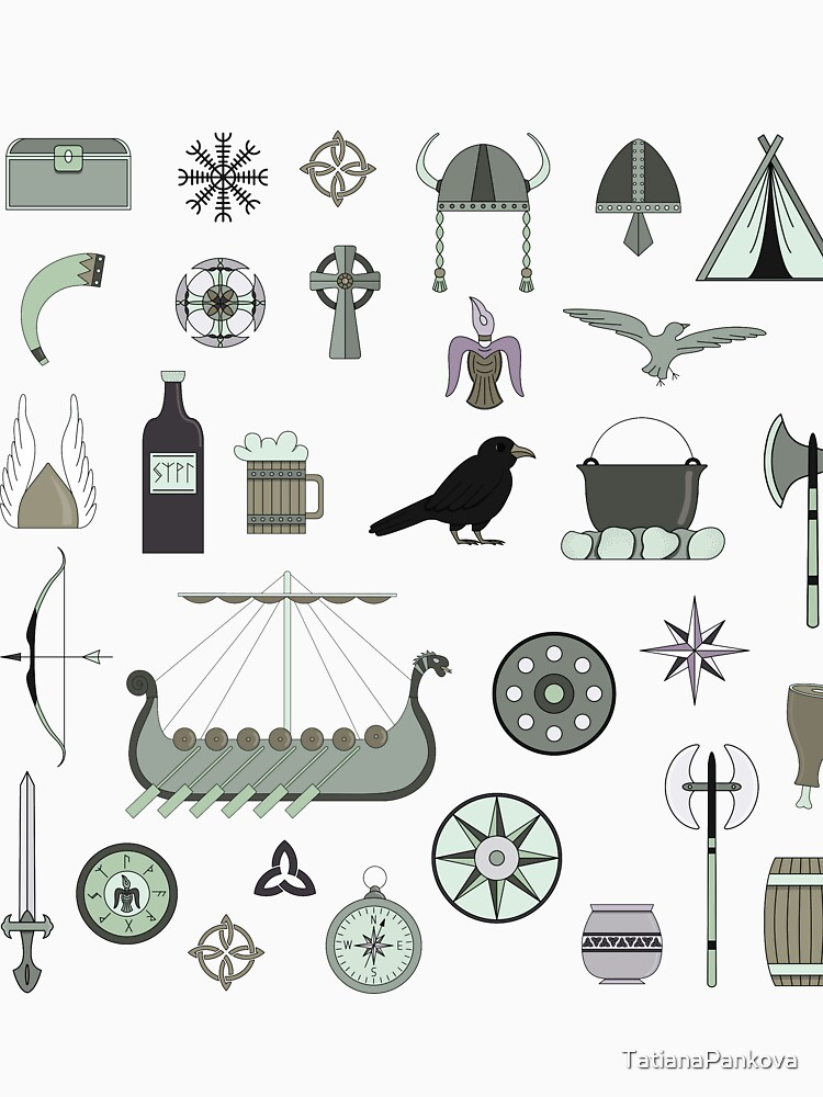 Stickers about life of Vikings. by TatianaPankova