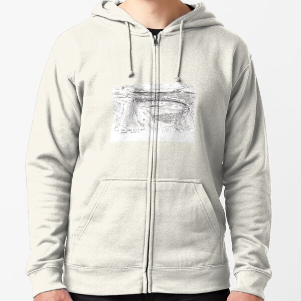 IN THE WORLD OF ITS OWN...MAYNE ISLAND BC(C2007) Zipped Hoodie