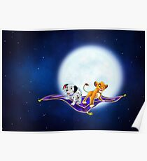 Simba and Wizzer, on a magic carpet ride Poster