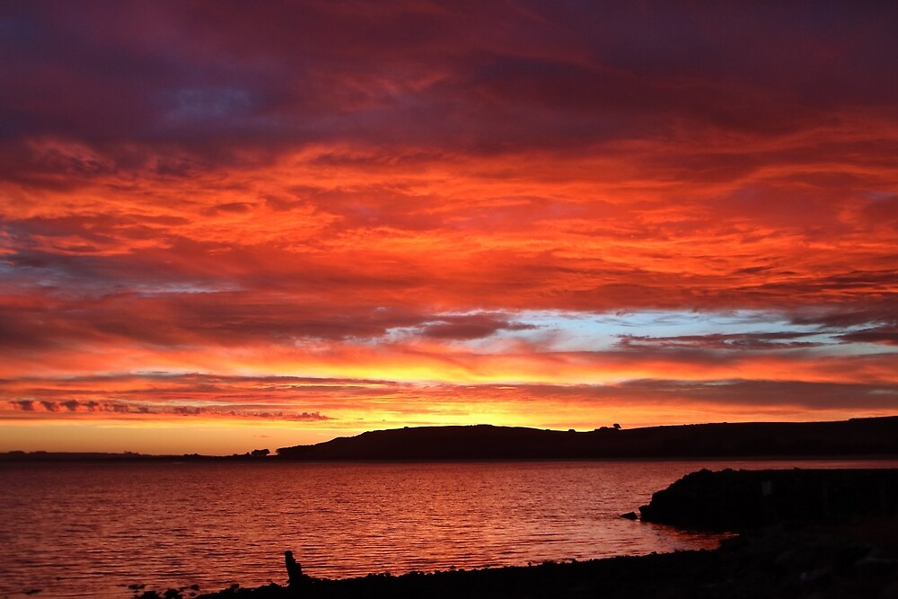 sunset mid show at Stanley by Gaylene Norton
