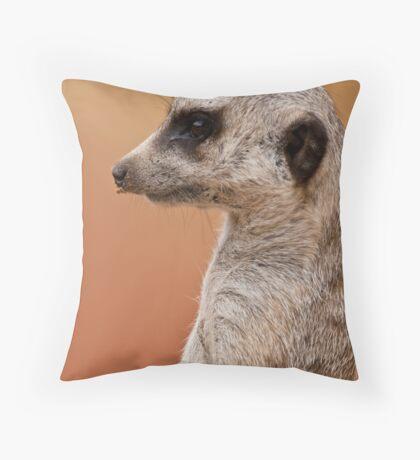 Profile of a Meerkat Throw Pillow