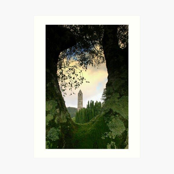 Glendalough view Art Print