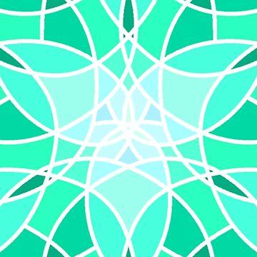 Aqua Mosaic by Dees-Designs
