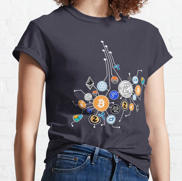 Cryptocurrency Network T-Shirt. Crypto t-shirt gift. Classic T-Shirt