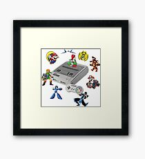 SNES Characters Framed Print