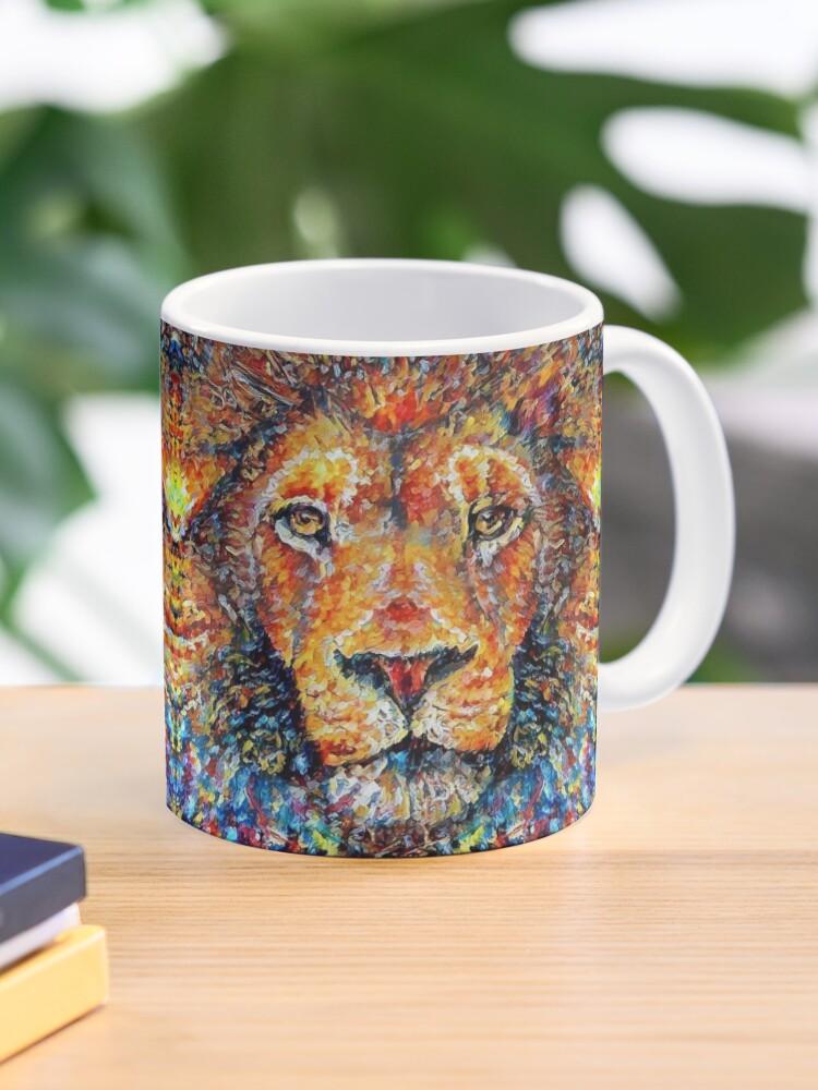 Colorful Lion Painting V4 Mug By Erisian Redbubble