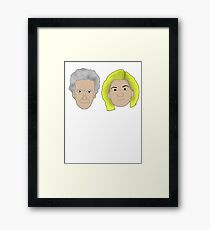 Life's a bitch and then you regenerate (white writing) (12/13) Framed Print