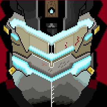 Isaac Clarke 8-bit by Brampf