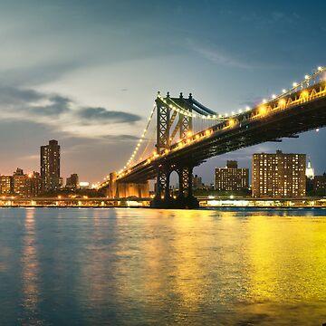 New York City - Manhattan Bridge by thomasrichter