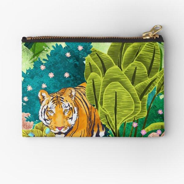 Jungle Tiger Zipper Pouch