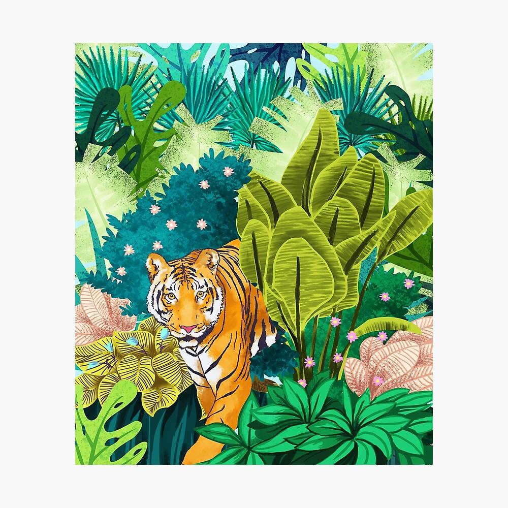 Jungle Tiger Lámina fotográfica