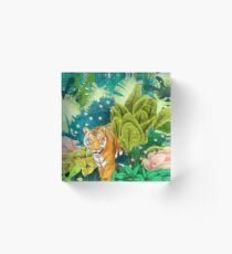 Jungle Tiger Acrylic Block