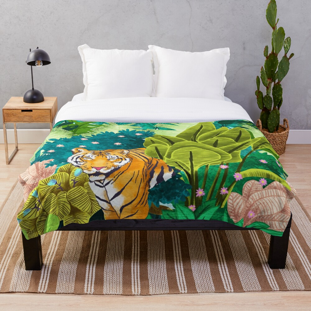 Jungle Tiger Throw Blanket