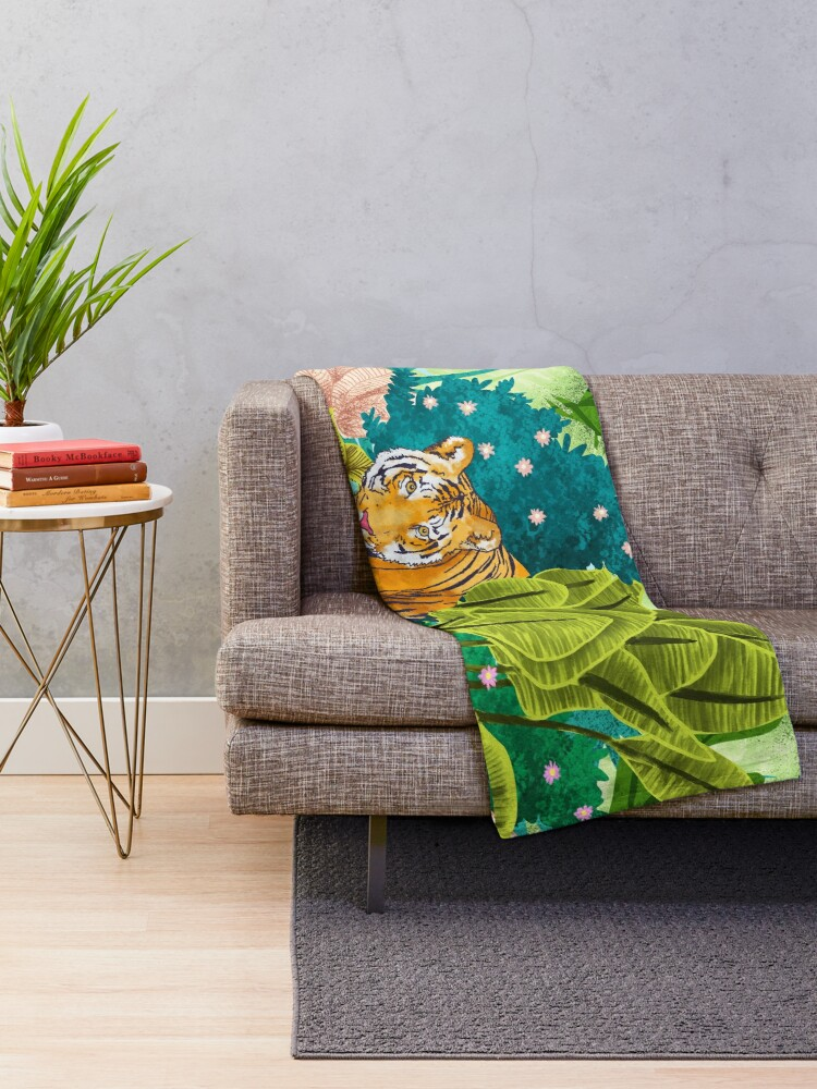Alternate view of Jungle Tiger Throw Blanket