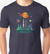 Space Landscape / Rocket Launch Unisex T-Shirt