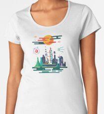 Space Landscape / Rocket Launch Women's Premium T-Shirt