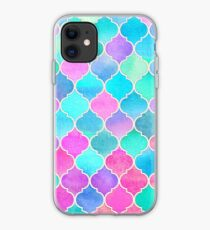 Bright Moroccan Morning - pretty pastel color pattern iPhone Case