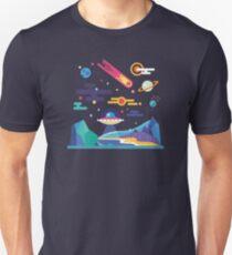 Space Landscape / Solar System Unisex T-Shirt