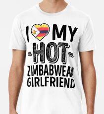 Ich liebe meine HEISSE Simbabwe-Freundin - niedliches Simbabwe-Paare Romantische Liebes-T-Shirts u. Aufkleber Männer Premium T-Shirts