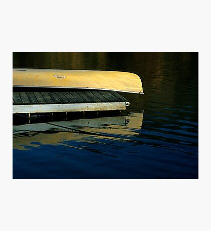 Yellow Canoe Photographic Print