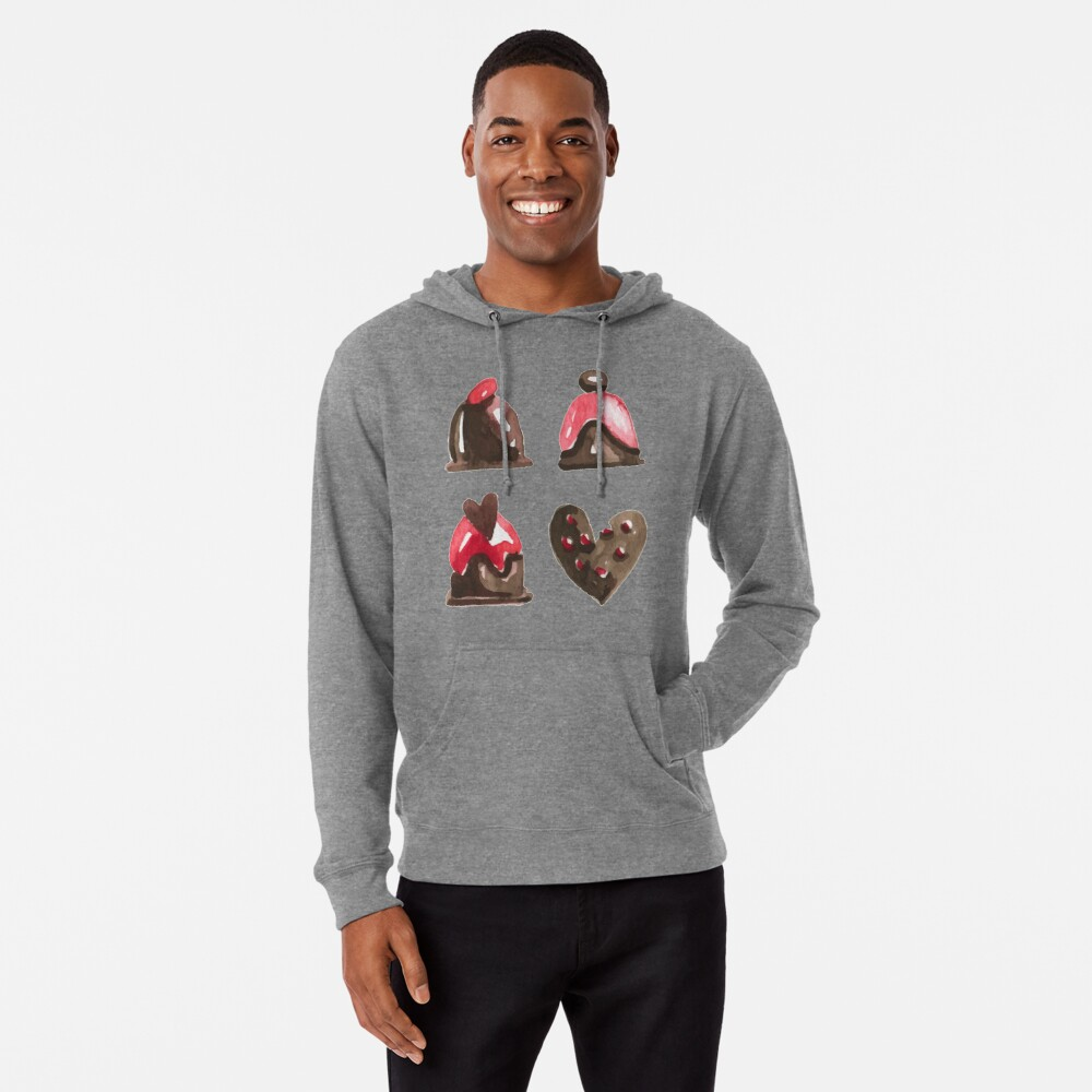 Valentines Day Chocolates Tshirt and more Lightweight Hoodie
