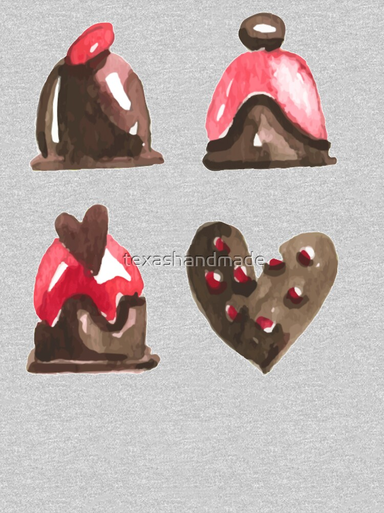 Valentines Day Chocolates Tshirt and more by texashandmade