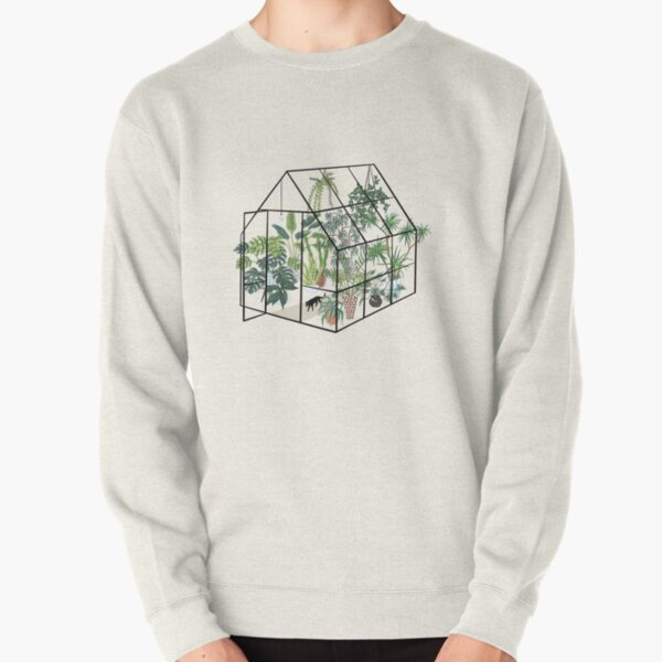 greenhouse with plants Pullover Sweatshirt