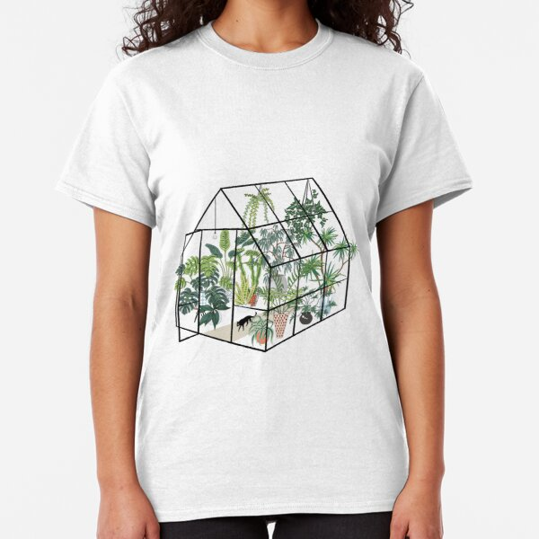 greenhouse with plants Classic T-Shirt