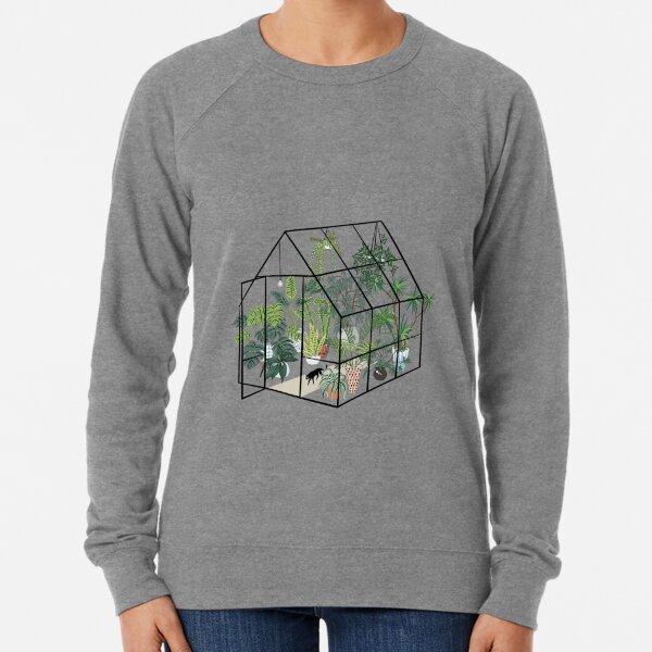 greenhouse with plants Lightweight Sweatshirt