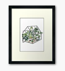 greenhouse with plants Framed Print