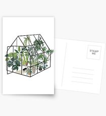 greenhouse with plants Postcards