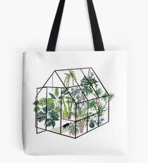 Bolsa de tela invernadero con plantas