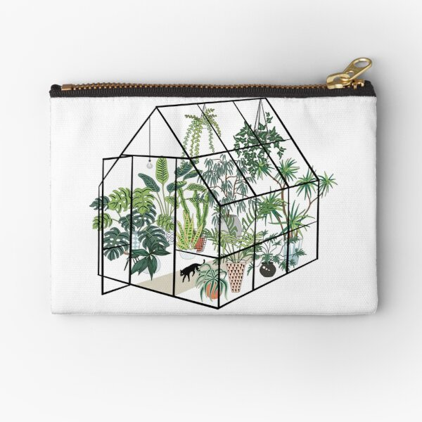 greenhouse with plants Zipper Pouch