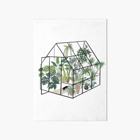 greenhouse with plants Art Board Print