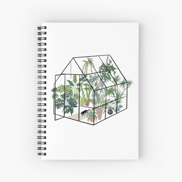 greenhouse with plants Spiral Notebook