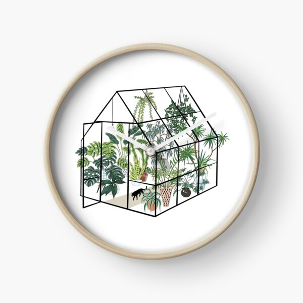 greenhouse with plants Clock
