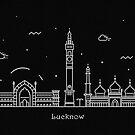 Lucknow Skyline Minimal Line Art Poster by A Deniz Akerman