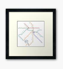 Delhi Metro - India Framed Print