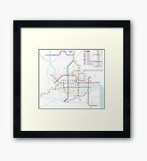 Guangzhou Metro Map - China Framed Print